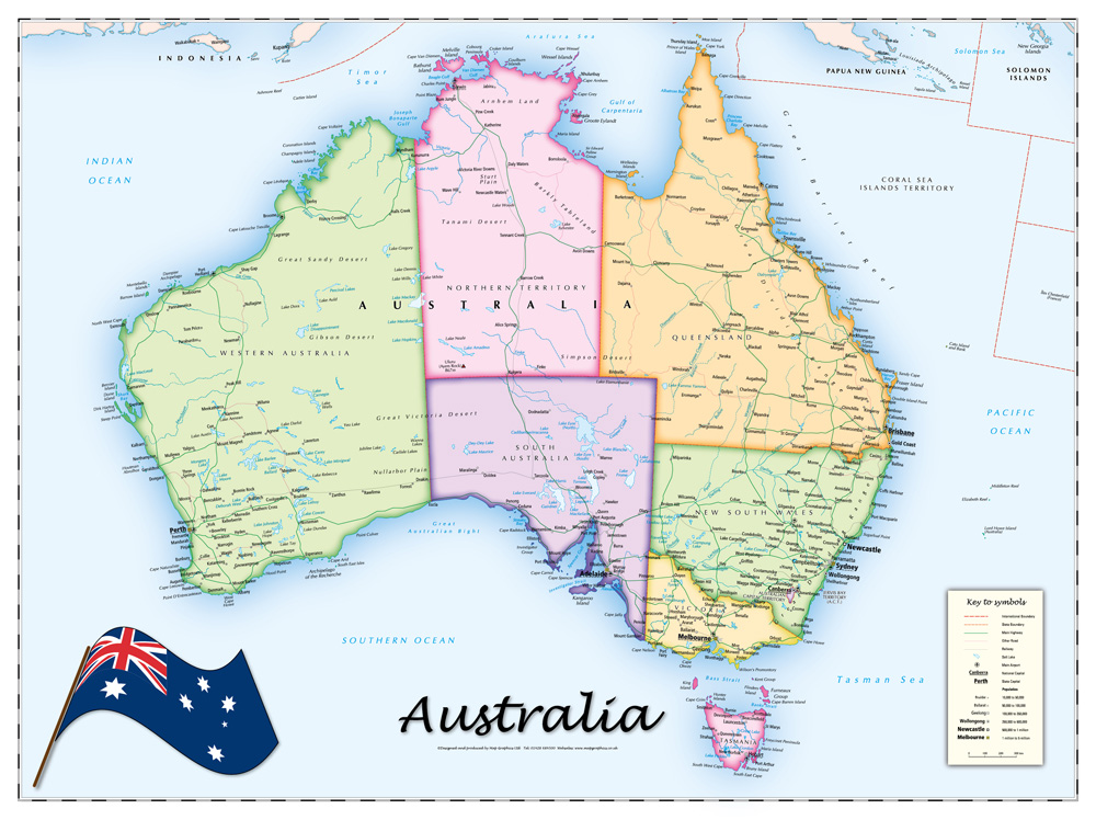 Political Map Australia London Map - Australia political map