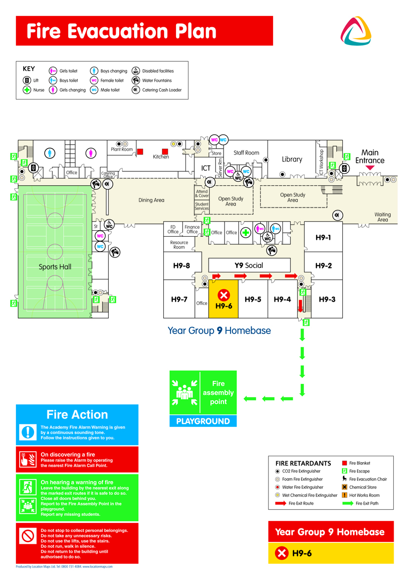 Fire Evacuation Plans Fire Escape Plans And Fire Assembly Plans