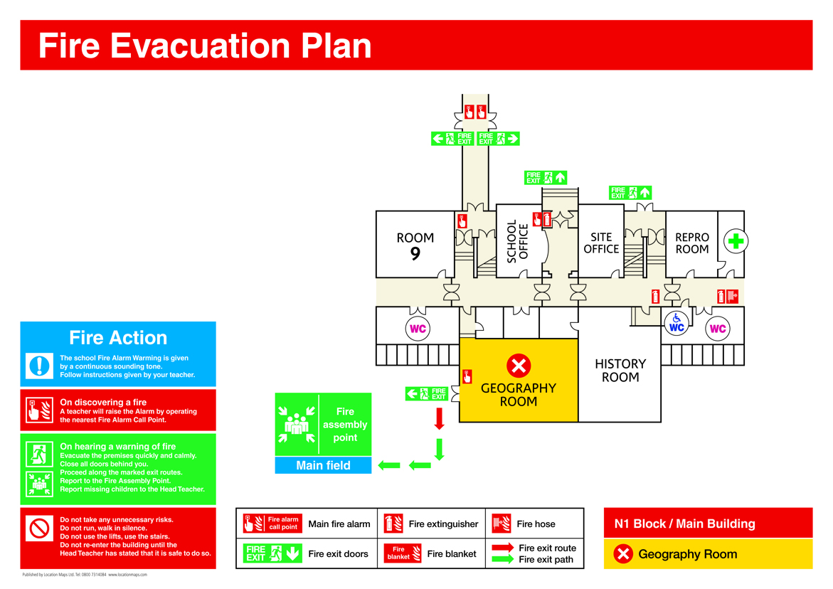 Fire evacuation plans fire escape plans and fire assembly for Fire plans