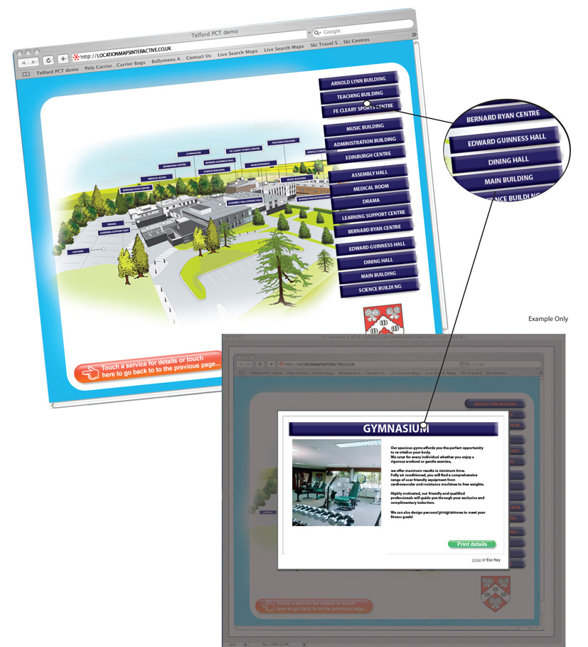 Facility Site Map Example: Interactive Site Plans